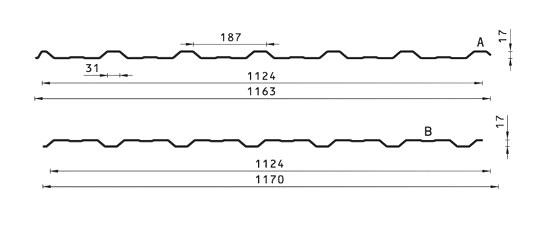BUDMAT trapecinis profilis TRB-18/1124