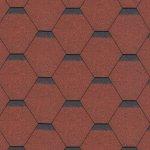 Hexagonal raudona